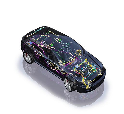 汽车线束设计高清图片