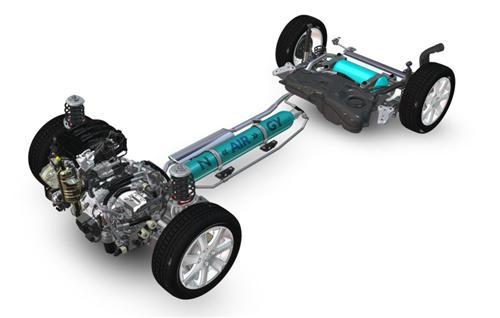 标致-雪铁龙发布汽油-压缩空气混合动力系统图片
