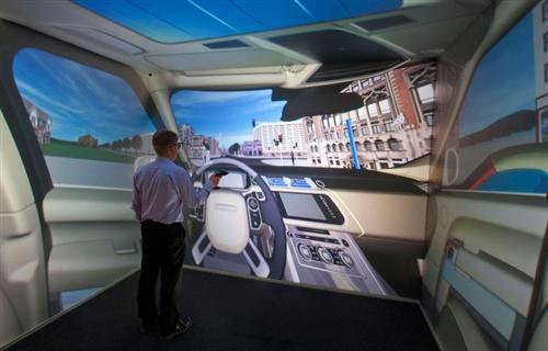 路虎利用虚拟仿真技术设计车辆